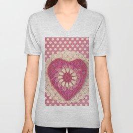 Crochet Valentine Unisex V-Neck