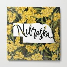 Nebraska - Goldenrod Metal Print