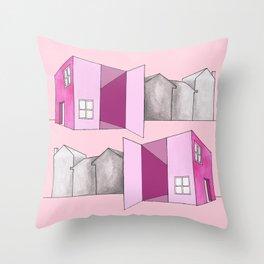 Pink home Throw Pillow