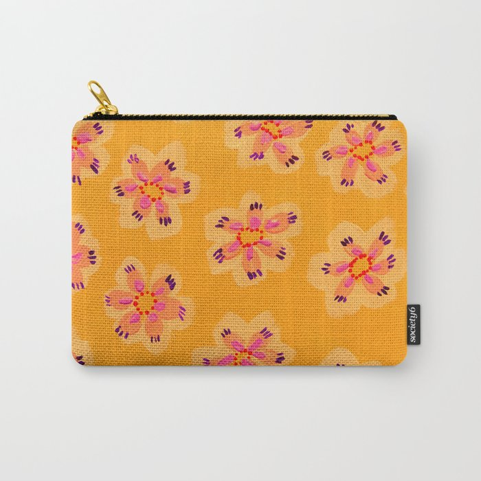 Tangerine Emily Claire Carry-All Pouch