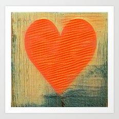 heart strips Art Print