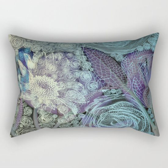 Blue fairy tale. Rectangular Pillow