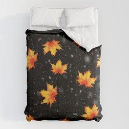 Autumn leaves Comforters