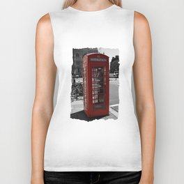 London Telephone Box Biker Tank