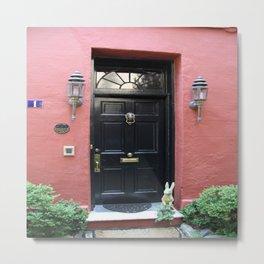 Black Door In Charleston Metal Print