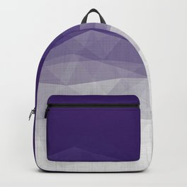 Imperial Amethyst - Geometric Triangles Minimalism Backpack