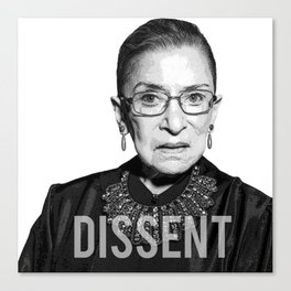 Ruth Bader Ginsburg DISSENT Collar RBG Canvas Print