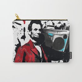 ABRAHAM LINCOLN INK SPLASH RED MAKE MUSIC NOT WAR Carry-All Pouch