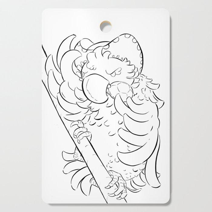 Pirate Parrot - ink Cutting Board