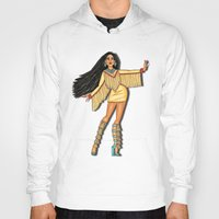 pocahontas Hoodies featuring Diva, Pocahontas by Anthony Michael