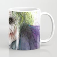 the joker Mugs featuring Joker  by Olechka