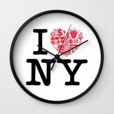 I everything NY Wall Clock