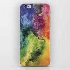 Rainbow Tie Dye Watercolor iPhone & iPod Skin