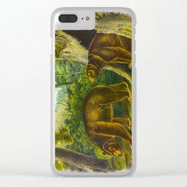 Cinnamon Bear Clear iPhone Case