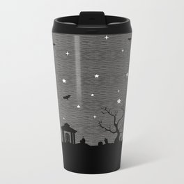 Spoopy Cemetery Print Metal Travel Mug