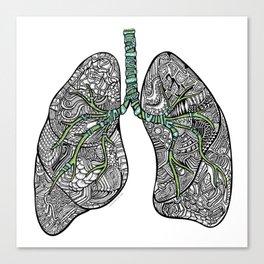 Blue & Green Lungs Canvas Print