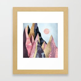 Mauve Peaks Framed Art Print