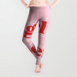 Girl Power // in Pink Red Leggings