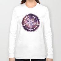 pentagram Long Sleeve T-shirts featuring Pentagram Galaxy by Parin Cashmony