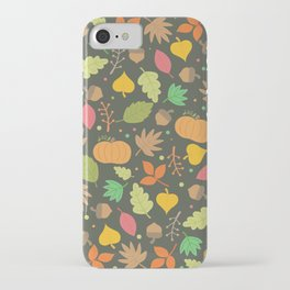 Thanksgiving pattern iPhone Case