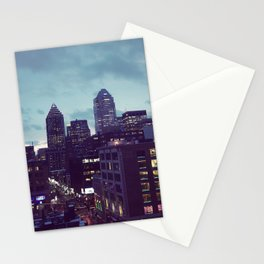 Montreal February night Stationery Cards