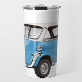 Silver & Blue Small Car Travel Mug
