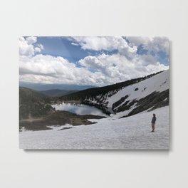 Glacier view Metal Print