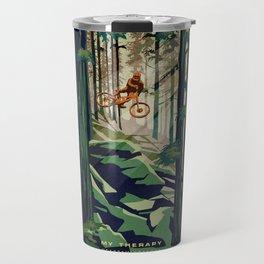 MY THERAPY MOUNTAIN BIKE POSTER Travel Mug