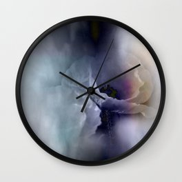 flowers in pastell colors - poppy Wall Clock