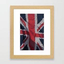 union jack mosaic Framed Art Print