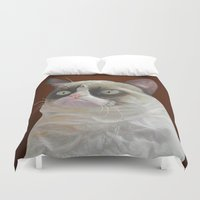 grumpy Duvet Covers featuring Grumpy-Chocolate by beart24