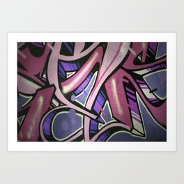 Colorful street art. Art Print