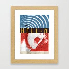 Hell-O Framed Art Print
