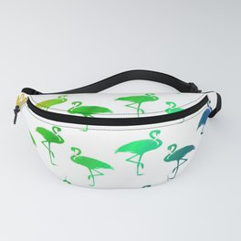 Colorful Tropical Rainbow Flamingos Fanny Pack