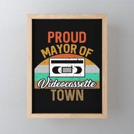 Videocasetera for Videocassette Players Framed Mini Art Print
