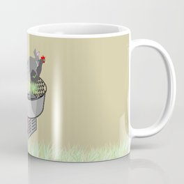 RABBITS AND ROOSTER ON COTTON CANDY MACHINE Coffee Mug