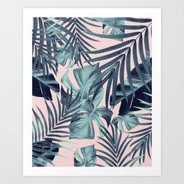 Tropical Jungle Leaves Pattern #8 #tropical #decor #art #society6 Art Print