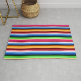 Mexican Serape Stripes Rug
