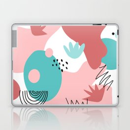 Teal and Pink Geometry Laptop & iPad Skin