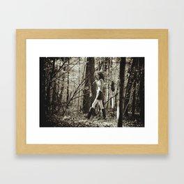 the little poor girl Framed Art Print