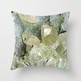 chrysocolla & calcite Throw Pillow
