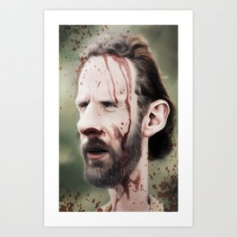 Rick Grimes Art Print