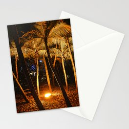 Orangy Illuminated Trees @ Siloso Beach Singapore. Stationery Cards