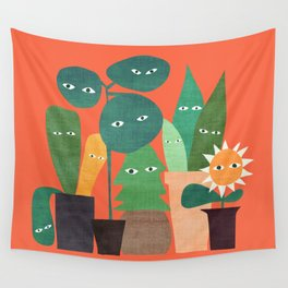 The plants are watching (paranoidos maximucho) Wall Tapestry