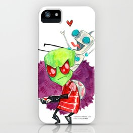 Invader Zim Hug iPhone Case