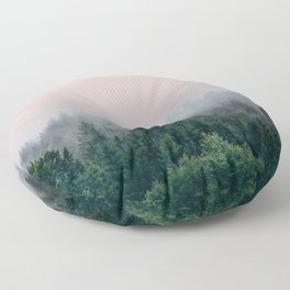 Forest in Pink Floor Pillow