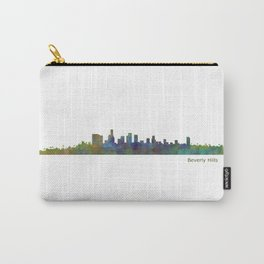 Beverly Hills City in LA City Skyline HQ v1 Carry-All Pouch