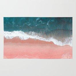 Turquoise Sea Pastel Beach III Rug