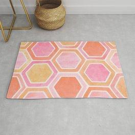 Desert Mood II - Watercolor Hexagon Pattern Rug