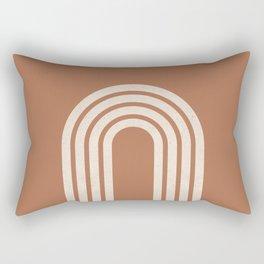 Woodblock arch terracotta Rectangular Pillow